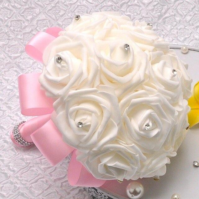8 Имеющиеся Цветы Невесты Невесты Искусственные Руки с Цветами в Руках Свадебные Букеты Свадебные Букеты Украшения Партии WP001