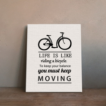 Funlife Inspiration Quote And Bicycle Canvas Art Print Poster, Wall Pictures for home Decoration for Kids Room CP025(China)