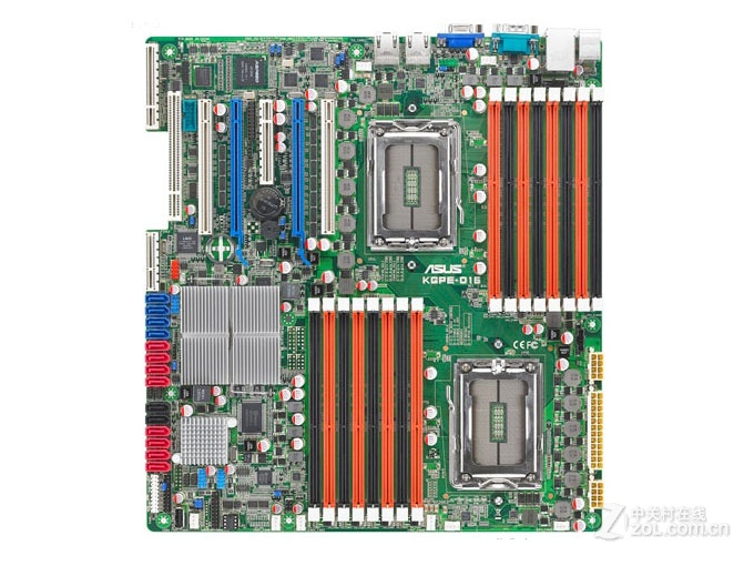 ASUS KGPE-D16 Server Motherboard Socket G34 DDR3 For 16-core CPU Dual Graphics Crossfire Desktop Motherboard