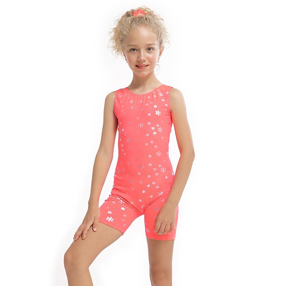 3-10Y Girls Kids Ballet Dress Gymnastic Leotards Sleeveless Dance Jumpsuit Dancing Biketard Dancewear Ballet Clothing Costume