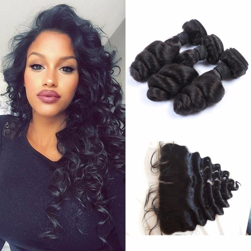 Peruvian Virgin Hair 13x4 Ear To Ear Loose Wave Virgin