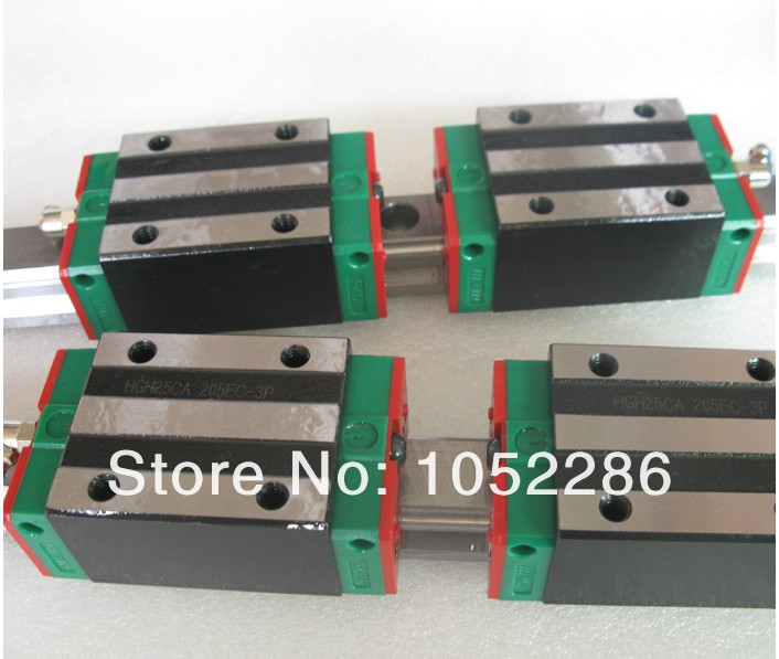 2pcs 100% original Hiwin HGR25-500mm  linear guide+4pcs HGH25CA narrow blocks  for cnc free shipping to argentina 2 pcs hgr25 3000mm and hgw25c 4pcs hiwin from taiwan linear guide rail
