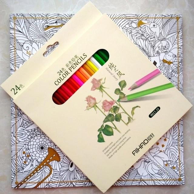 96 Páginas de Alice In Wonderland coloring book + 24 lápiz para ...