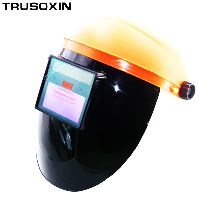 MMA ARCO Auto Escurecimento Solar Máscara de Solda Elétrica Capacetes Cap  Soldador Olhos Óculos de Plasma Máquina De Solda cortador dd7f4c7c85