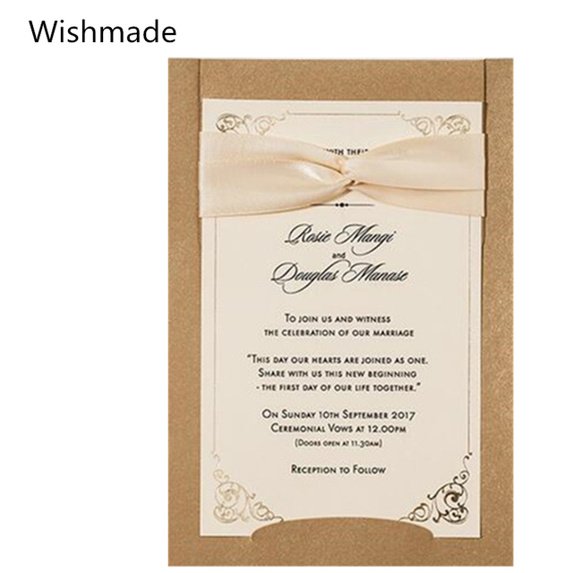 Wishmade Brand 20PCS/Lot Wedding Laser Cutting Invitation Card