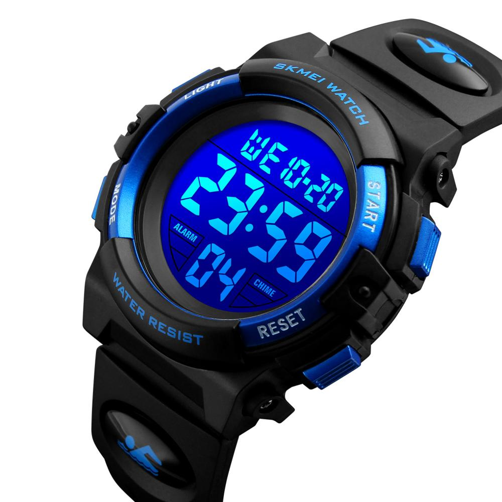 SKMEI Children LED Electronic Digital Watch Chronograph Clock Sport Watches 5Bar Waterproof Kids Wristwatches For Boys Girls(China)