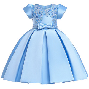 3-10 year girl European American court princess dress High quality lace bow elegant dress Exquisite sequin banquet sweet dress(China)