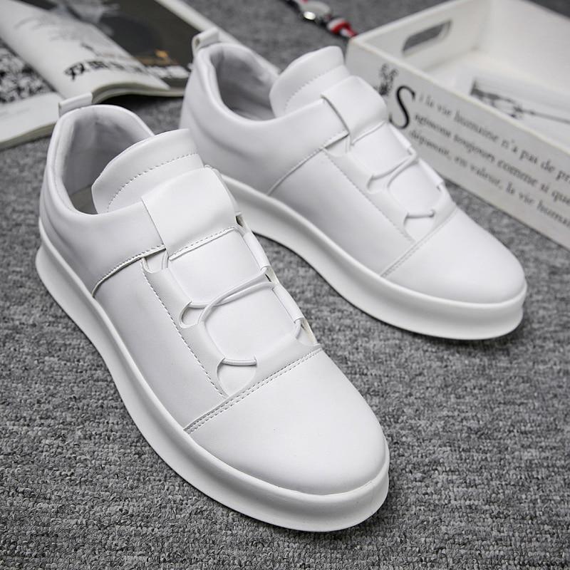 2019 spring New brand Men Skateboarding shoes Slip-On outdoor walking Male Shoes jogging sneakers White Black Board Shoes NC-97 slip-on shoe