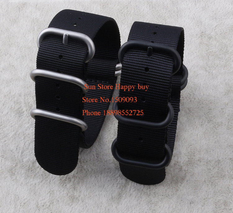 Wholesale !Nylon Diver Strap Band Watchband Belts Black 5-ring 18 20 22 24 26mm Zulu Nato Watchbands Hot selling wholesale suunto core nylon diver strap band kit w lugs adapters armygreen 5 colours 24mm zulu nato watchbands