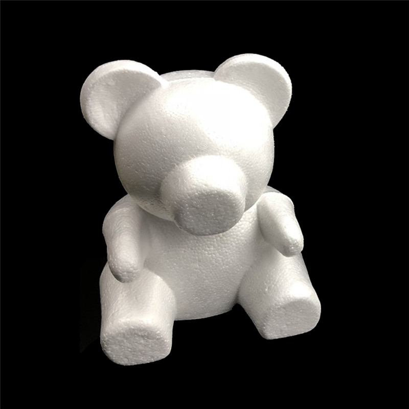Cleansers Lower Price with Diy White Foam Bear Model For Mascot Soap Rose Flower 35cm Plush Toy Mold Lovers Valentines Day Birthday Gift Wedding Present Moderate Price Beauty & Health