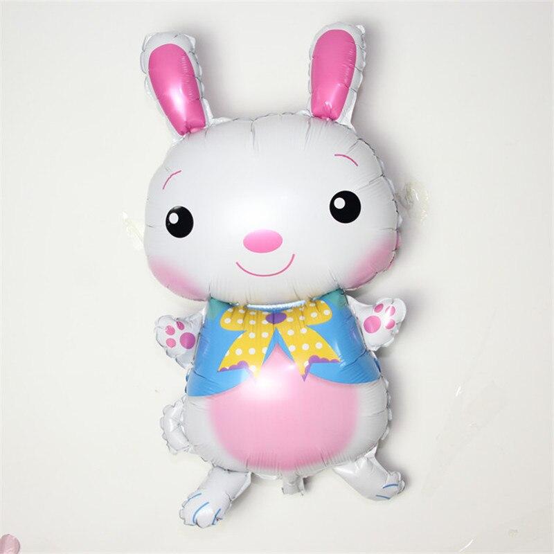 1 шт. DIY милый кролик цыплят шаблон Фольга Шарики пасхальные украшения Надувные