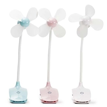 Mini Portable USB Rechargeable Touch Swith Electric Fan Desk Clip Air Cooler New