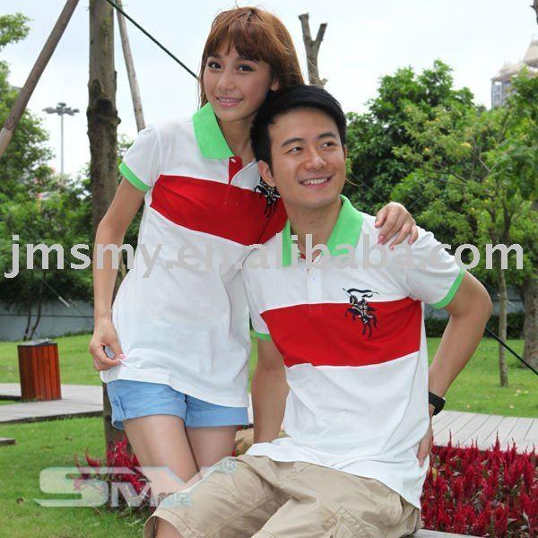 100%cotton short sleeve couple t shirt &shirts