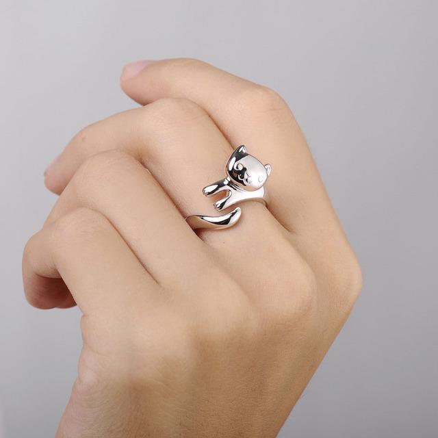 Cat Ring Resizable Finger Rings