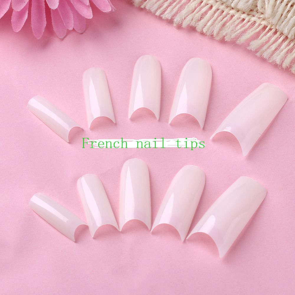 High quality 500 tips french False Nail Tips Nail 10 different fake ...