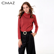 CMAZ 2019 Mode warme jumper frauen gestrickte Pullover weibliche casual langarm tops Feste Herbst Winter MX18D5534(China)