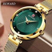 купить REWARD Rhinestone Watch Women Luxury Women Bracelet Watches Waterproof Casual Quartz Ladies Watch for Woman Dress Wrist Watches по цене 1055.31 рублей