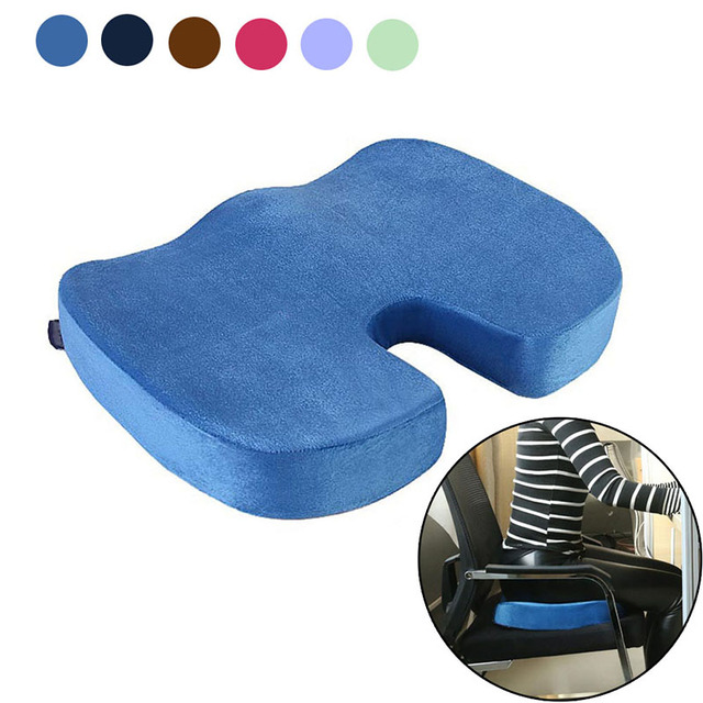 office chairs for sciatica cheap chair covers ebay soft memory foam seat cushion back coccyx tailbone pain relief car high quality pillow fp8 my1418