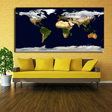 Hot Sale Classic Vintage winter Color World Map No Frame Canvas Painting Art Vintage Poster Wall Picture Home decoration Living