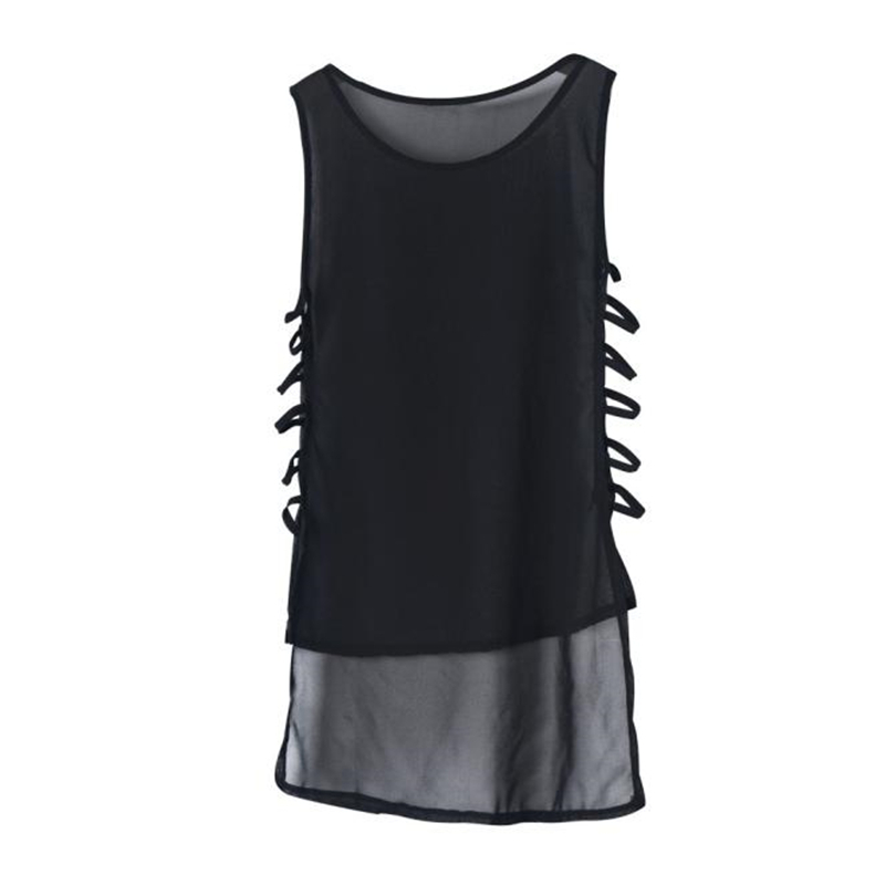 MIARHB Womens Summer Sleeveless Dress Sexy Casual Chiffon Vest Top Sleeveless Blouse Tank Tops Mini Dress Dresses T-Shirt A20