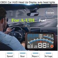 For AUDI A1 A2 A3 A4 A5 A6 A7 A8 Q1 Q3 Q5 Q7 4E 5.5 Car OBD2 II EUOBD Car HUD Head Up Display Hood light Auto lamps