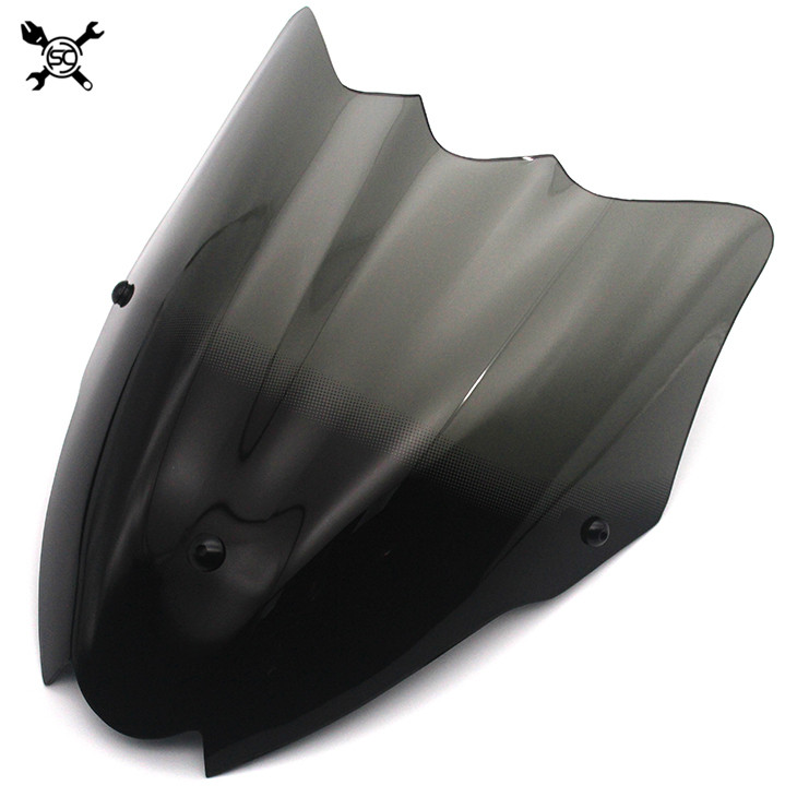 Motorcycle Sports Windshield WindScreen Visor Viser Fits For Sukuzi GSR750 2011 2012 2013 2014 2015 2016 11'-16' Double Bubble
