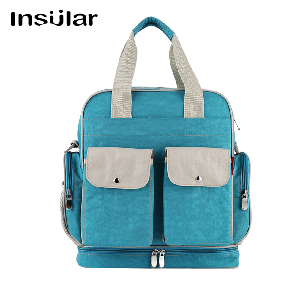 6 Colors Mummy Backpack Baby Diaper Nappy Bags Tote Waterproof Redelivery Multi-function Solid High-capacity