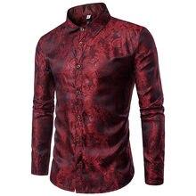 fd9888d0c17e Brilhantes Camisas De Seda Homens 2017 Promoção Outono Flor de Algodão  Camisas para Os Homens Designer