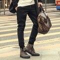 Люксовый Бренд случайные брюки мужчины прямо Мужские Бегунов брюки Хлопок мужские брюки стрейч Бодибилдинг Тренировочные Брюки Ноги Штаны