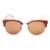 Óculos de sol de bambu polarizada 2016 óculos de sol dos homens marca de moda de madeira metade quadro cat eye glasses oculos de sol feminino ls5021