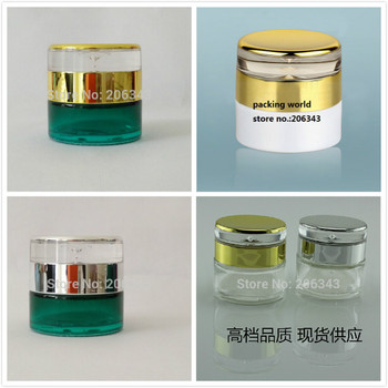 20G pearlwhite/transparent/green/glass bottle/ jar for cream/mask serum/ essence/moisturizer/wax cosmetic packing skin care jar