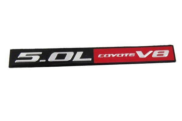 Aluminum Auto car 5.0L COYOTE V8 for MUSTANG GT ENGINE Emblem Badge Sticker