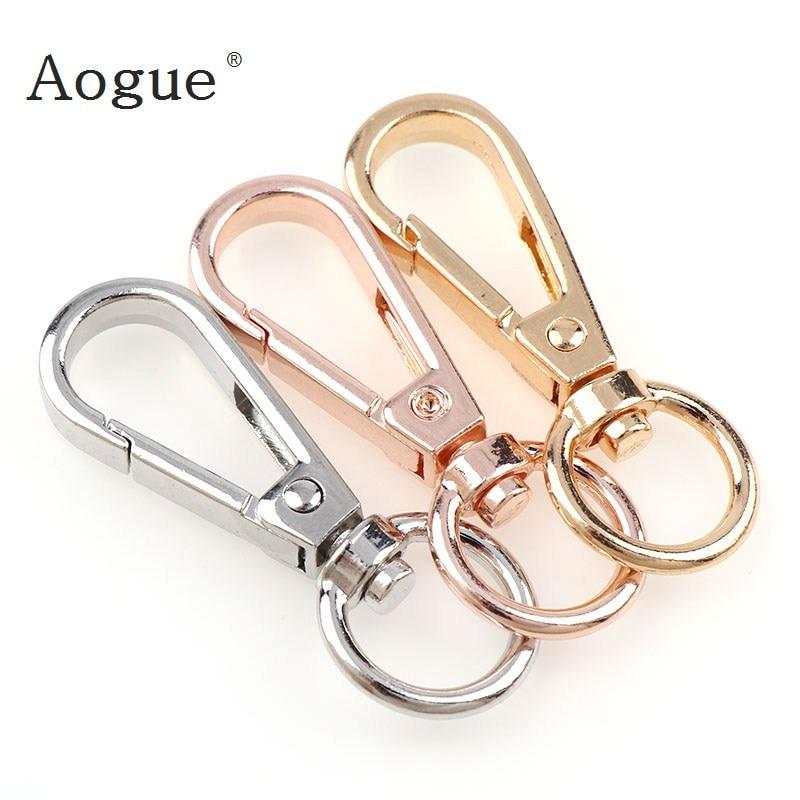 3pcs/lot 50x18mmMetal  Key Chain Holder Swivel Trigger Lobster Clasp Snap Hook Key Chains For Jewelry Fit Women Men Key Chain