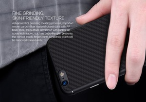 Image 2 - Carbon case voor iphone 6 6 s behuizing Nillkin Synthetische vezels cover case siliconen PP back shell voor coque iphone 6 plus
