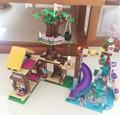 BELA 10497 739 Unids Amigos Aventura Campamento Casa Del Árbol columpio Modelo Mini bloques de Construcción Bloques de Juguetes de Niña Con Legoe 41122