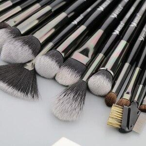 Image 3 - Набор кистей для макияжа BEILI Black, 40 профессиональных кистей для макияжа, Мягкая натуральная щетина, пудра, растушевка, основание веера для бровей, Кисть для макияжа