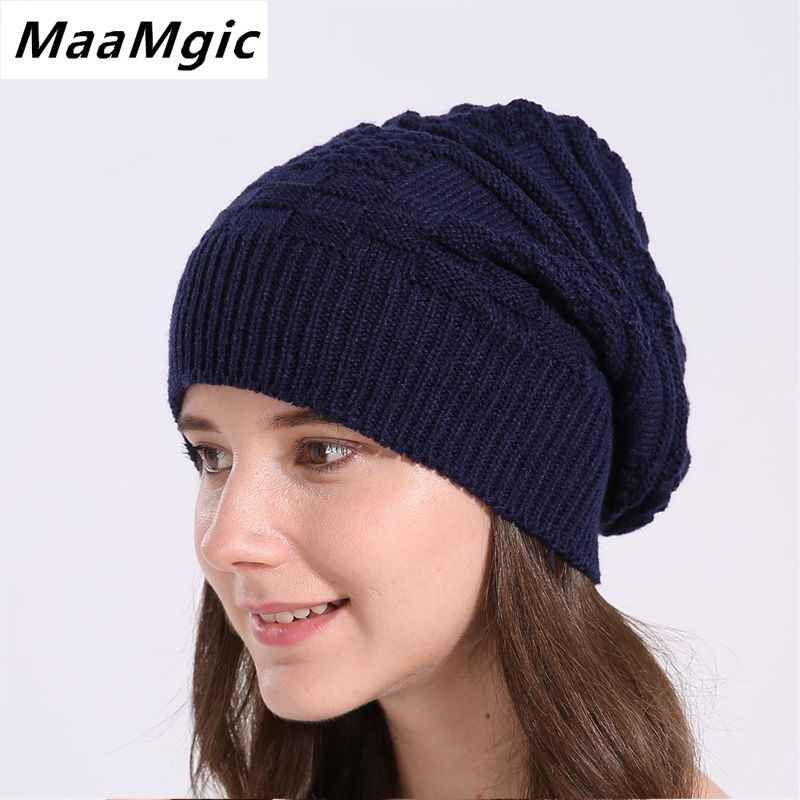 2017 New Women's Winter Hat Knitted Wool Beanie Female Fashion  Casual Outdoor Mask Ski Caps Thick Warm Hats for Women girl fibonacci winter hat knitted wool beanies skullies casual outdoor ski caps high quality thick solid warm hats for women