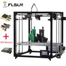 Новый Flsun 3D-принтеры комплект Большая площадь печати 260*260*350 мм Сенсорный экран двойной экструдер металлический каркас 3D-принтеры с с подогревом