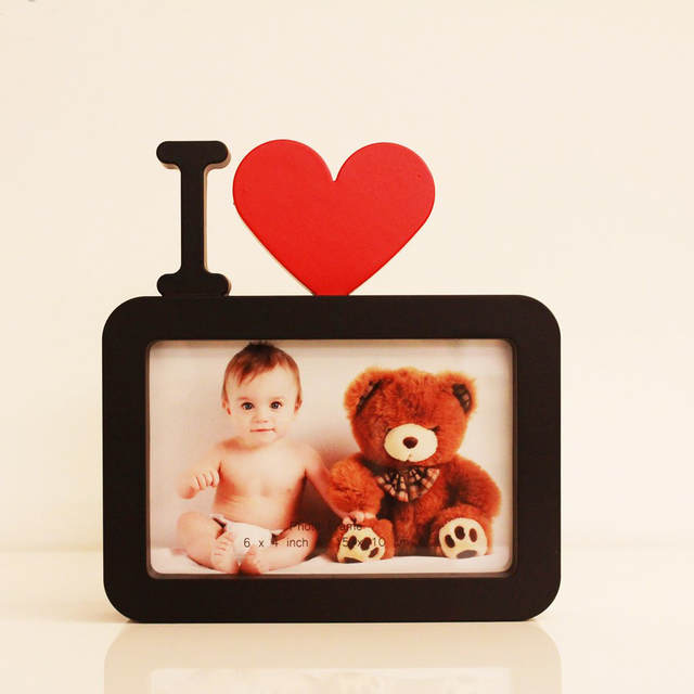 Online Shop I Love You 6inch Photo Frame Red Heart Shaped With One