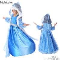 2016 Custom Anna Elsa Girls Dresses Children Dress Kids Party Summer Vestido For Baby Cinderella Cosplay