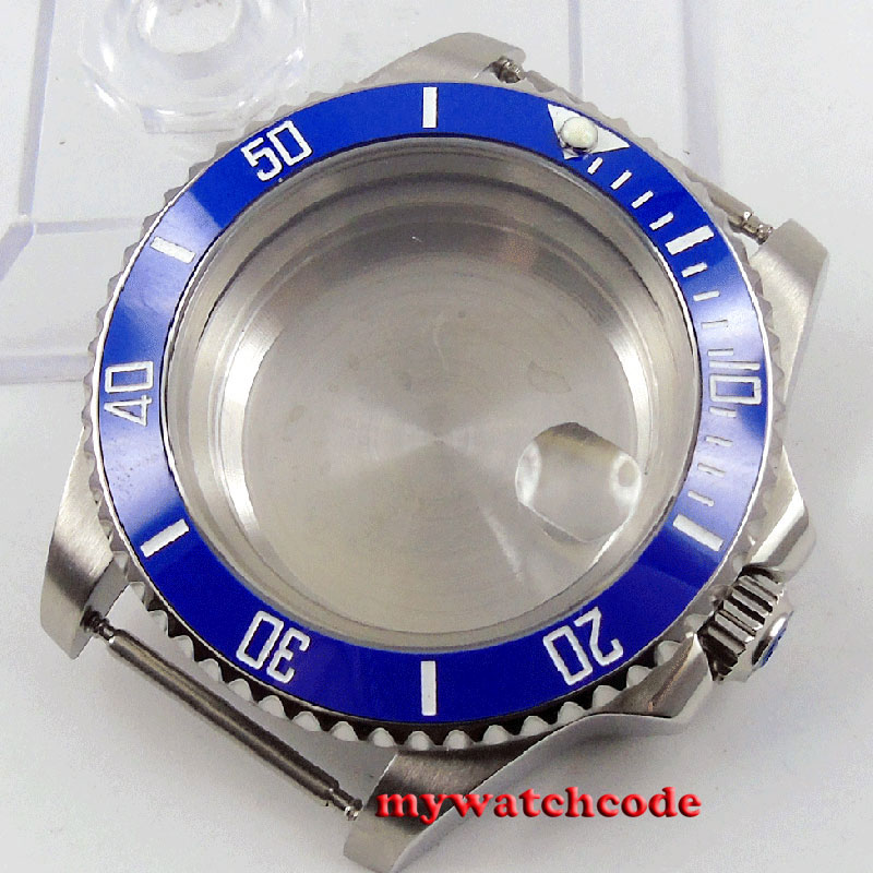 40mm sapphire glass blue ceramic bezel Watch Case fit 2824 2836 MOVEMENT C97 jamo c97