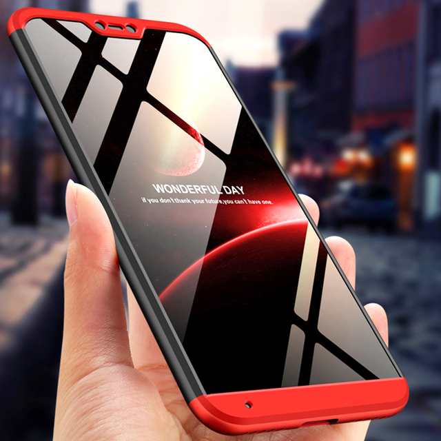 For xiaomi Mi 8 lite Fashion 360 Full Body Case For xiaomi Mi a2 lite redmi 6 pro/6X 6a Hard Hybrid Plastic Protection Cases