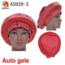 Aso Ebi Queency Африканский Авто геле уже связаны Aso OKE Headtie 1 шт./упак. доступны 24 цвета DHL AS029
