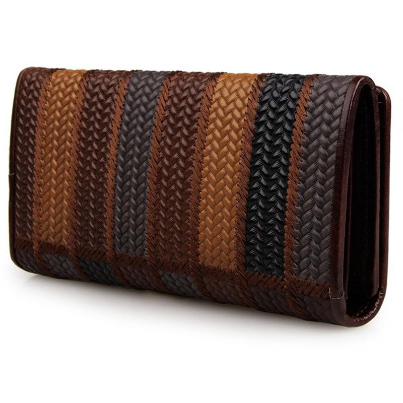 Womens Wallet Fashion Luxury Genuine Leather Card Holder Wallets Women Purse Designer Ladies Crocodile Long Patent Clutch