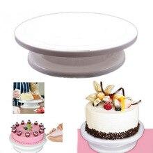 DIY Kuchen Dekoration Plattenspieler Manuell Rotierenden Rund Geformt Kuchen Montage Muster Werkzeug