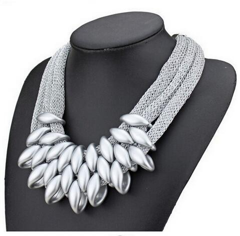 ZOSHI New 2017 Hot Pendant Necklace Women Trendy Jewelry Cloth Woven Chain Statement Necklaces Plastic Pendants For Gift 3