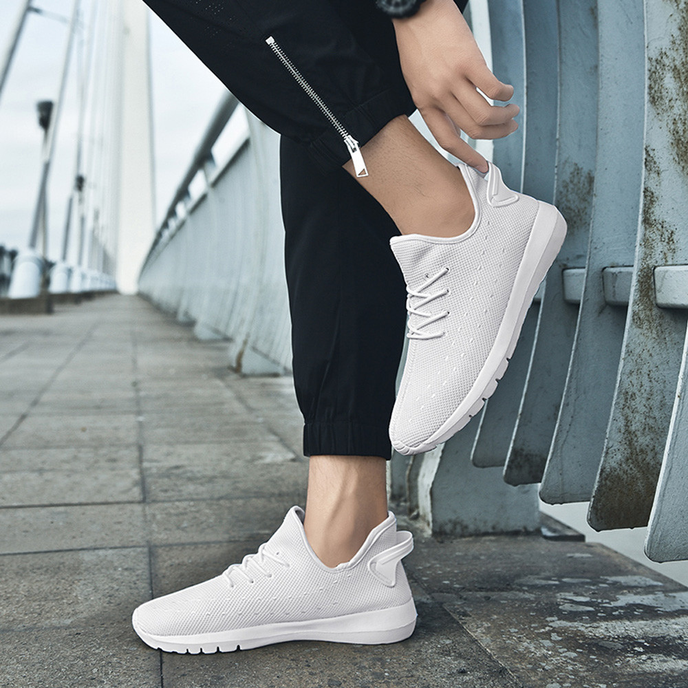 KLV Men Mesh Shoes Casual Lace Up Vulcanized Shoes Comfortable Soles shoes sneakers schoenen mannen heren zapatos de hombre #9