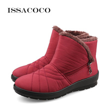 ISSACOCO Snow Boots Women Shoes For Ladies Kids Fashion Casual Antiskid Waterproof Girls