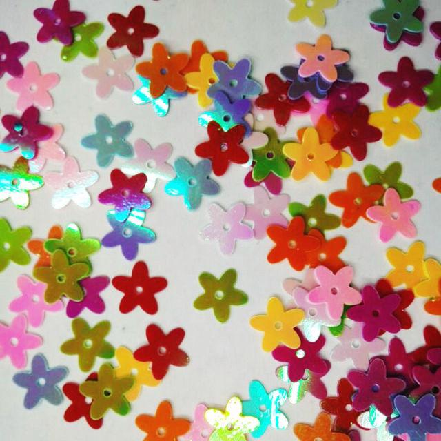 20gram/Lot  10mm Mini Milk Star With Hole Sequin Craft Material Kindergarten Crafts Intelligence Creative Activity Item DIY Toys