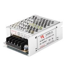 Новый DC светодио дный 12 В в 5A 60 Вт освещение трансформатор Светодиодный драйвер адаптеры питания переключатель для светодиодные ленты Выключатель света питание дропшиппинг